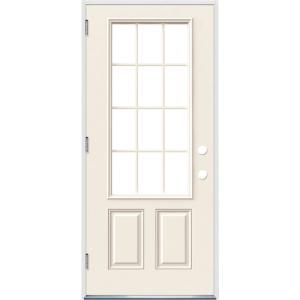 Jeld Wen 32 In X 80 In 12 Lite Primed Steel Prehung Right Hand Inswing Front Door W Brickmould Thdjw189200023 The Home Depot In 2020 Rustic Bedroom Design Bedroom Design Affordable Interiors