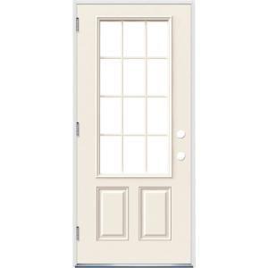 Jeld Wen 32 In X 80 In 12 Lite Primed Steel Prehung Right Hand Inswing Front Door W Brickmould Thdjw189200023 The Home Depot In 2020 Rustic Bedroom Design Bedroom Design Affordable Interiors
