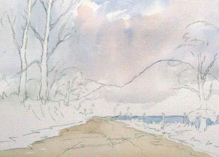 Paint a Country Lane Fast and Loose in Watercolour