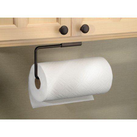 Interdesign Swivel Paper Towel Holder For Kitchen Wall Mount Under Cabinet Bronze Walmart Com Paper Towel Holder Diy Towel Holder Paper Towel Holder