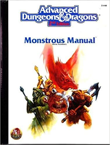 Monstrous Manual Ad D 2nd Ed Fantasy Roleplaying Accessory 2140