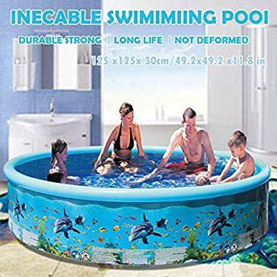 Amazon Com N A Us Stock Dhl Express Family Inflatable Swimming Pool Round Inflatable Baby In 2020 Children Swimming Pool Inflatable Swimming Pool Swimming Pools
