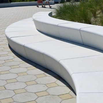 Streetscapes Wall Seating Concrete Bench