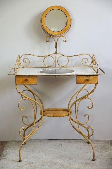 Antiker Franzosischer Frisiertisch Frisiertisch Tisch Und