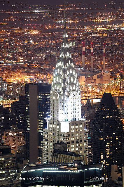 Chrysler Building In Manhattan New York City At Night Manhattan