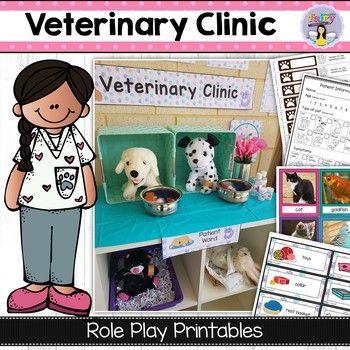 Vet Clinic Dramatic Play Actividades Para Preescolar Oficios Y Profesiones Actividades