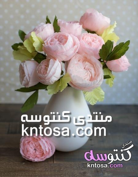طريقة عمل وردة جولييت من الورق تعلمي صنع اجمل الورود بالصور طريقة عمل وردة رااائعة من الورق الملون Floral Wreath Floral Wreaths