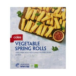 Coles Vegetable Cocktail Frozen Spring Rolls 60 Pack Coles Online Spring Rolls Vegetable Spring Rolls Vegetables