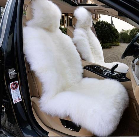 Premium Sheepskin Car Seat Cover Sheepskin Car Seat Covers Bling Car Accessories Car Accessories