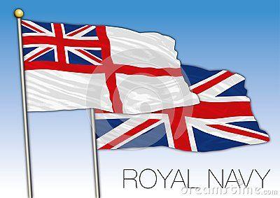 United Kingdom Official Symbol Royal Navy Ensign Flag Vector Illustration Uk Flag Royal Navy Vector Illustration