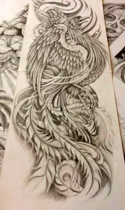 Tattoo Drawings In 2020 Tattoo Design Drawings Phoenix Tattoo Japanese Tattoo