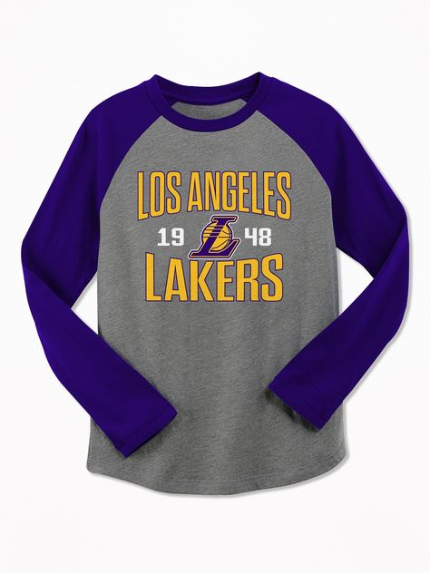 9174ef38a6cc NBA® Team-Graphic Raglan-Sleeve Tee for Boys