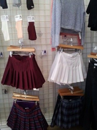 """stella-starz: """"bimborules: """"gothicstripper: """"alanissux: """"What store is that? """" It looks like American Apparel. """" Those skirts are awesome! """" Yes, American Apparel is correct."""