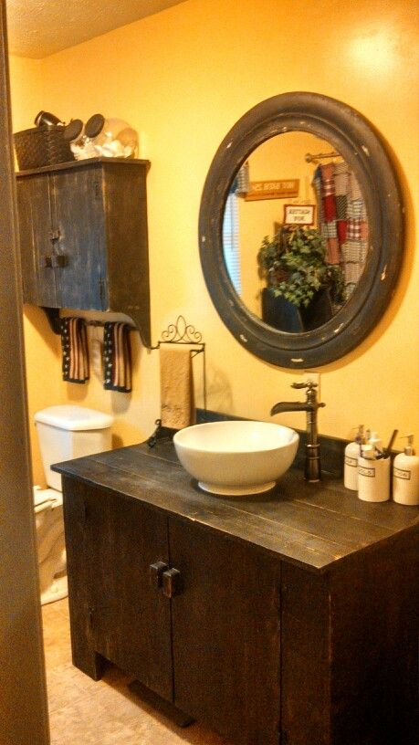 Cabinet looks pretty simple....but bigger So like my bathroom, cabinet, sink, faucet and wall cabinet!