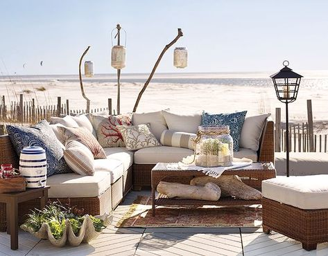 Outdoor lounging beachside