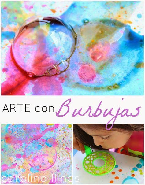 Del Blog Nuestro Mundo Creativo: Arte para niños con BURBUJAS de jabón