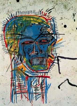 Jean Michel Basquiat Ascent Abstract Graffiti Oil Painting on Canvas 24x32/""
