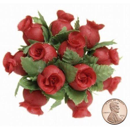 Gold 144 Silk Mini Wrap Roses Wedding Shower Flower Picks