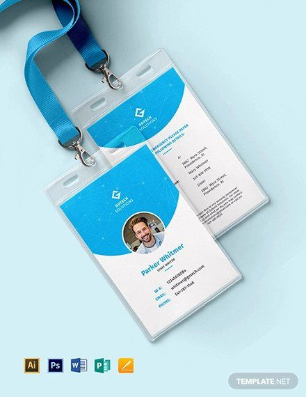Employee Id Card Template Free Download Lovely 38 Id Card Templates Psd Eps Png Employee Id Card Id Card Template Employees Card