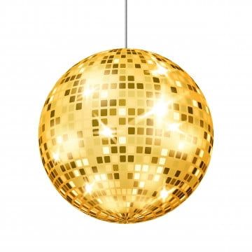 Gold Disco Ball Vector Dance Club Retro Party Classic Light Element Mirror Ball Isolated On White Background Illustration Disco Ball Gold Png And Vector With Mirror Ball Dance Mirrors Disco Ball