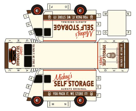 Moving Paper Truck Template