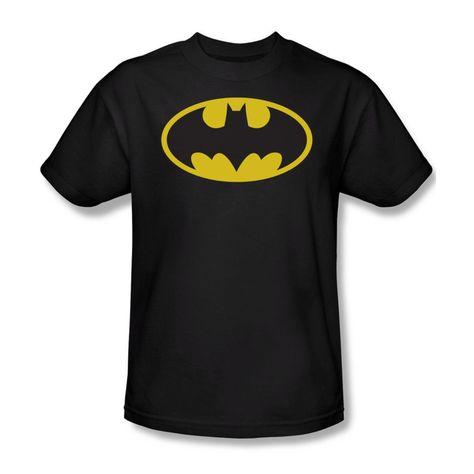Trevco Mens Batman Bat Building Double Sided Adult T-Shirt
