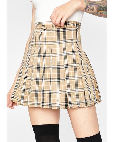 Mocha After School Thots Plaid Skirt i 2020