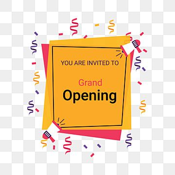Grand Opening Ceremony Coming Soon Grand Opening Promotion Png And Vector With Transparent Background For Free Download Grand Opening Grand Opening Invitations Grand Opening Banner