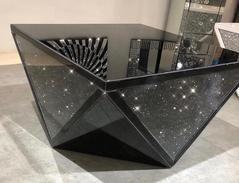 Black Mirror Crush Exclusive Mirrored Coffee Table Mirrored
