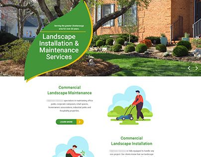 Check Out New Work On My Behance Profile Web Design For Landscaping Company Http Be Net G Landscaping Company Lawn Care Business Cards Lawn Care Business