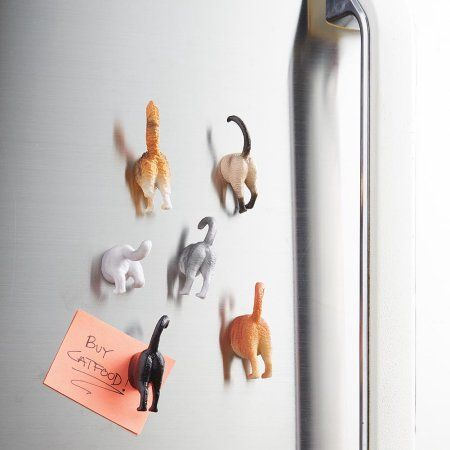 Kikkerland Cat Butt Magnets, Set of 6 - This magnet assortment includes 6 cat breeds identified by their sculpted characteristic butts. These magnets are perfect for the cat lover in all of us. Cat Gifts, Cat Lover Gifts, Cat Lovers, Crazy Cat Lady, Crazy Cats, Kitchen Humor, Funny Kitchen, Kitchen Refrigerator, Refrigerator Magnets