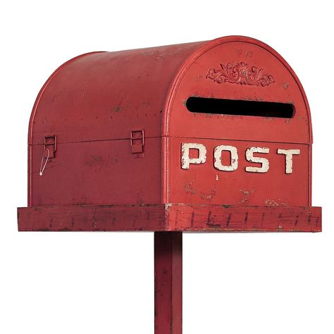 Red Vintage Wedding Mailbox On Stand Wedding Mailbox And Red