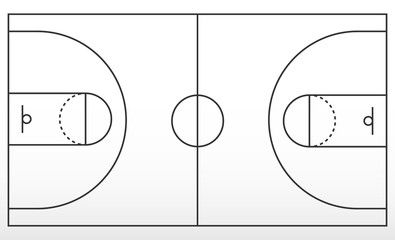 Basketball Court Markup Outline Of Lines On Basketball Court Affiliate Markup Court Basketball Basketball Li In 2020 Basketball Court Basketball Outline
