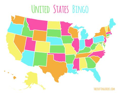 US Map Game {FREE Printable US State Map} | Us state map, Us ...
