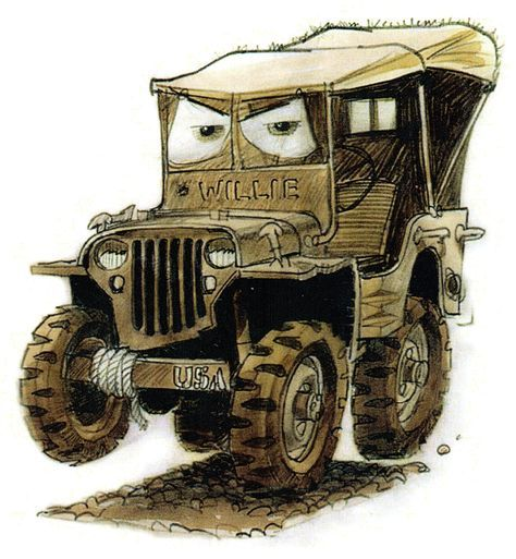 Cars - Quatre Roues - The Art of Disney | Jeep willys ...