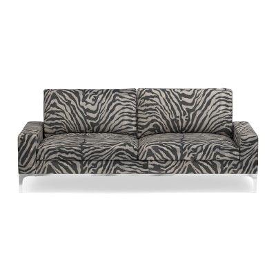 Lucca Sofa Down Printed Zebra Linen Charcoal Luu So2 St Club Furniture Sofa Cushions