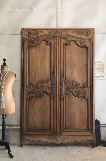木枠付きアルモワールペアドア パディントン アンティーク家具