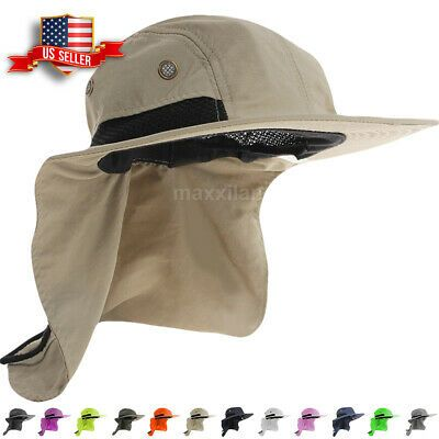 Boonie Snap Hat For Men Wide Brim Ear Neck Cover Sun Flap Bucket Hats Outdoors Ebay Hats For Men Hat For Man Wide Brimmed