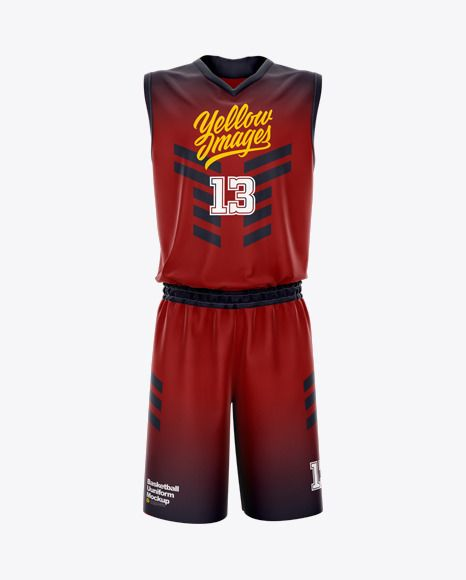 Download Basketball Uniform Mockup Front View In Apparel Mockups On Yellow Images Object Mockups Design Mockup Free Mockup Basketball Uniforms