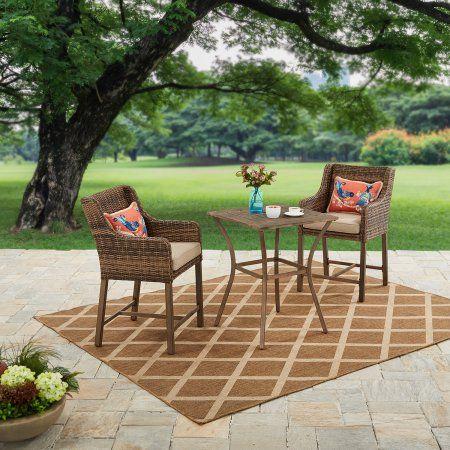 Tremendous Better Homes And Gardens Hawthorne Park 3 Piece High Bistro Customarchery Wood Chair Design Ideas Customarcherynet