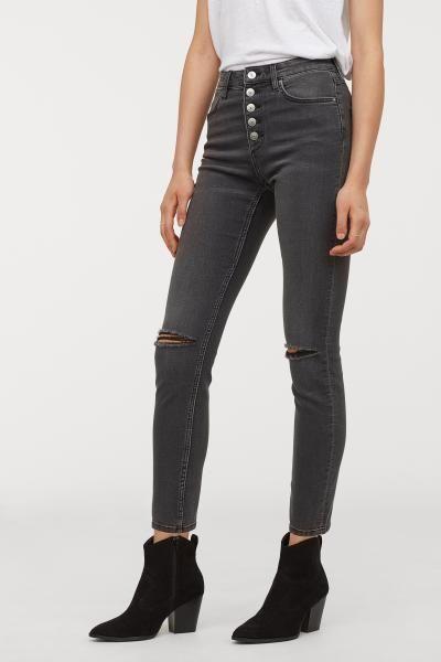 Skinny High Jeans Soluk Siyah Kadin H M Tr High Skinny Jeans Black Jeans Online Shopping Clothes Women
