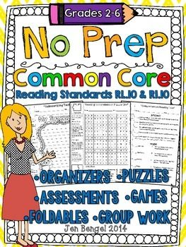 This resource includes tons of NO PREP reading graphic organizers, puzzles, foldables, games, group work, assessments, and more to help teach CCSS reading standards RL.10 and RI.10, reading comprehension in both fiction and nonfiction texts. Grades 2-6 ($)