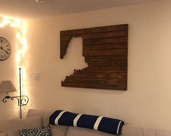 Large Scale Maine Cutout Wall Hanging Reclaimed Wood Pallet