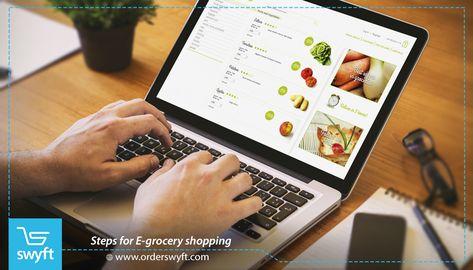 خطوات التسوق في البقالة الإلكترونية Snack Delivery Delivery App Grocery Shop