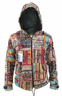 Hippie Vintage Boho Vintage Retro Cotton Funky Knitted Jacket Festival Nepalese