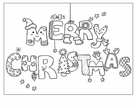 Scritta Merry Christmas Disegno Di Natale Da Colorare Colori Di