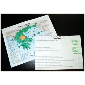 Ancient Greece Map Worksheets With Images Basic Geography