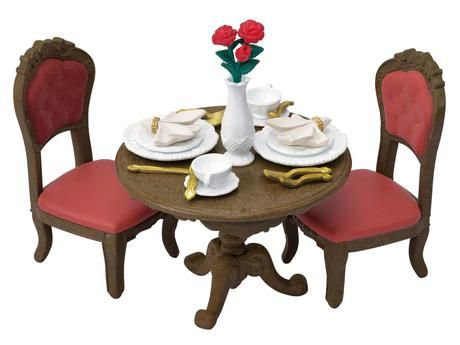 Town Series Chic Dining Table Set Tf 05 Sylvanian Families Japan Epoch Dining Table Setting Family Dining Table Sylvanian Families