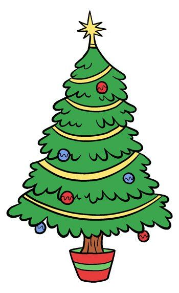 Christmas Tree Clip Art Cartoon Christmas Tree Christmas Tree Template Christmas Tree Clipart