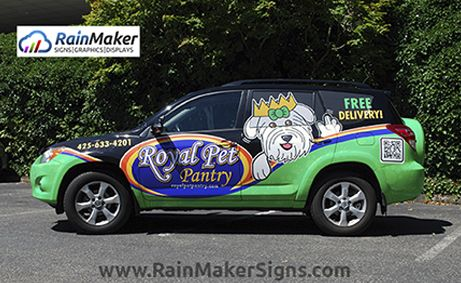 Rainmaker Signs Custom Vehicle Wraps Toyota Rav4 Royal Pet Supply